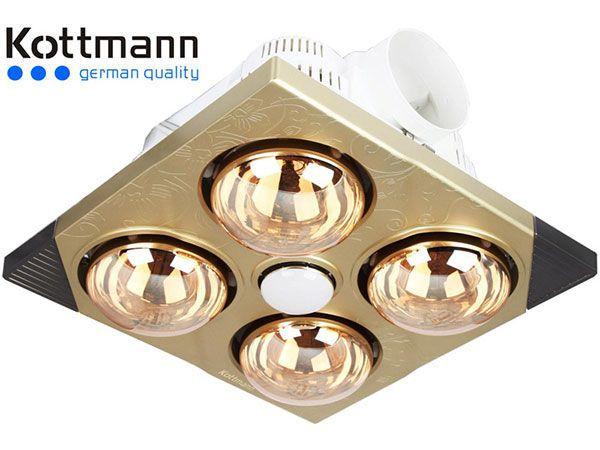 Đèn sưởi nhà tắm 4 bóng Kottmann H4B