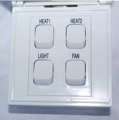 Đèn sưởi nhà tắm Hans 4 bóng âm trần