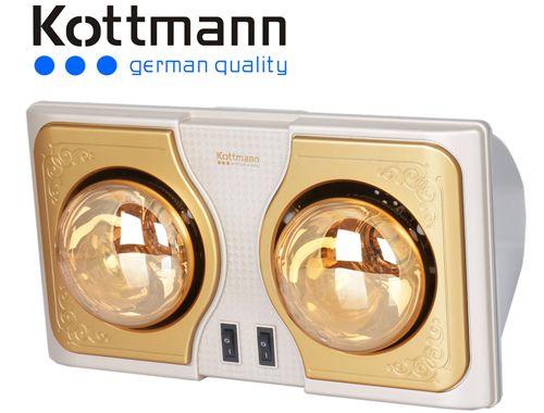 đèn sưởi nhà tắm Kottman 2 bóng K2b