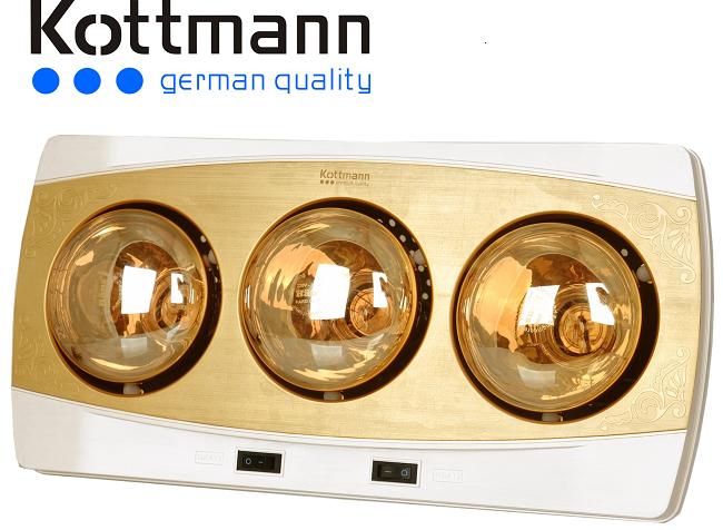 Đèn sưởi nhà tắm Kottmann 3 bóng