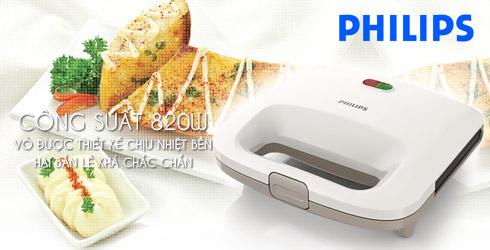 Máy kẹp nướng bánh mỳ Sandwich Philips HD2393
