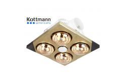 Đèn sưởi nhà tắm Kottmann 4 bóng treo tường