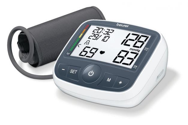 Máy đo huyết áp bắp tay Beurer BM40 có Adapter của Đức