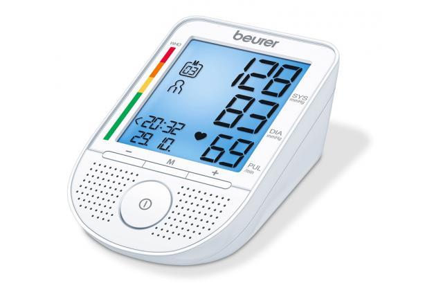 Máy đo huyết áp bắp tay Beurer BM49 Có loa của Đức
