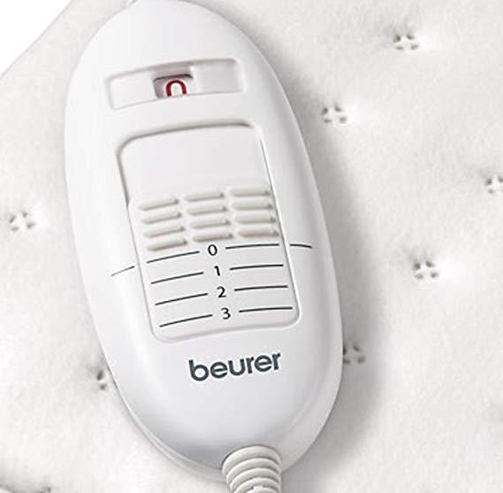 Đệm điện Beurer TS19 có 3 chức năng điều chỉnh và 1 nút tắt