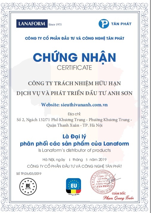 certificate lanaform