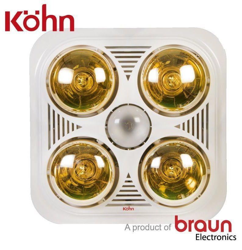 Đèn sưởi nhà tắm Braun Kohn BU04GR âm trần có điều khiển