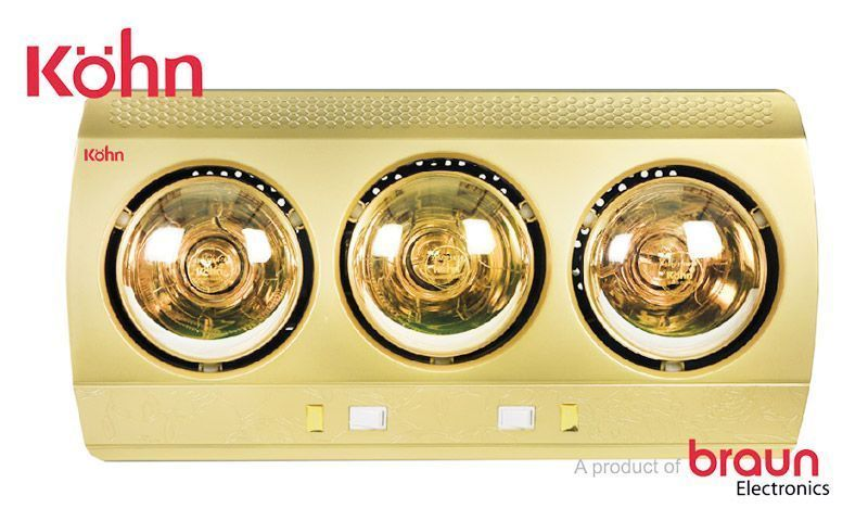 Đèn sưởi nhà tắm Braun Kohn KN03G của Đức