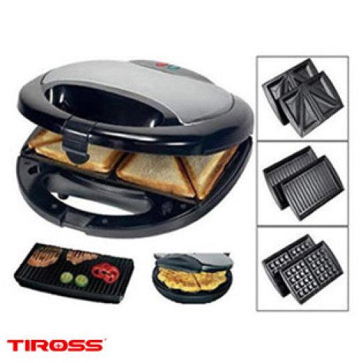 Máy kẹp bánh mỳ Tiross TS513 Với 3 khay kẹp bánh