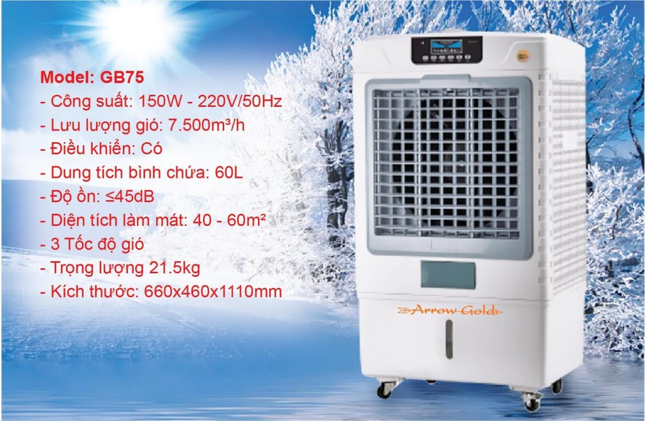 Quạt điều hòa không khí Arrow Gold GB75 Dung tích 60L