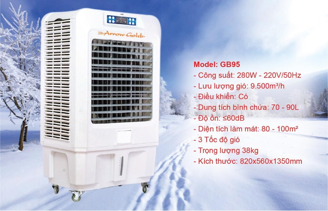 Quạt điều hòa không khí Arrow Gold GB95 Dung tích 90L