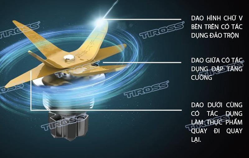 Lưỡi xay 6 cánh của Tiross TS9821