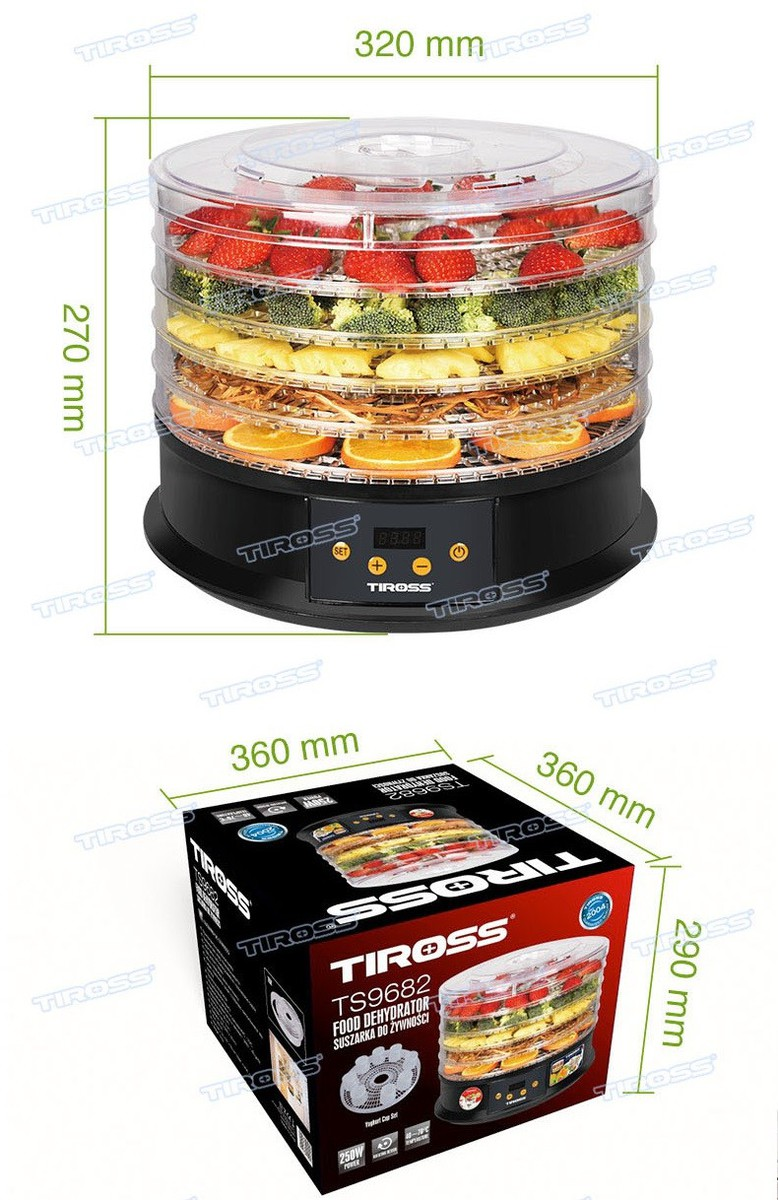 Máy sấy hoa quả Tiross TS9682 Công nghệ Ba lan