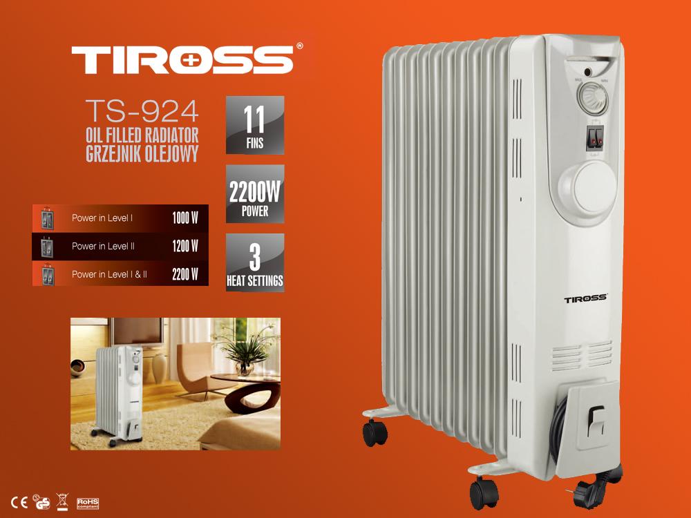 Máy sưởi dầu Tiross TS924 Của Ba lan với 11 Thanh nhiệt
