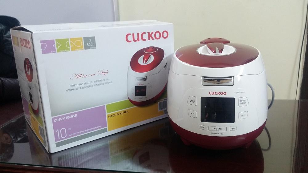 Nồi cơm áp suất điện tử Cuckoo CRP-M1060SR Hàng nội địa