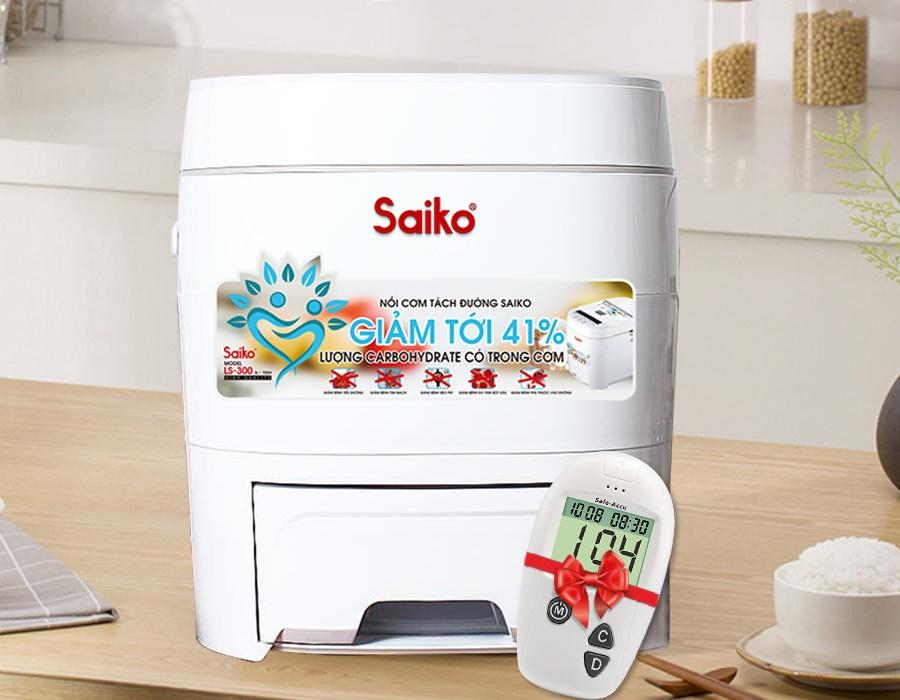 Nồi cơm tách đường Saiko LS300 Công nghệ Nhật bản