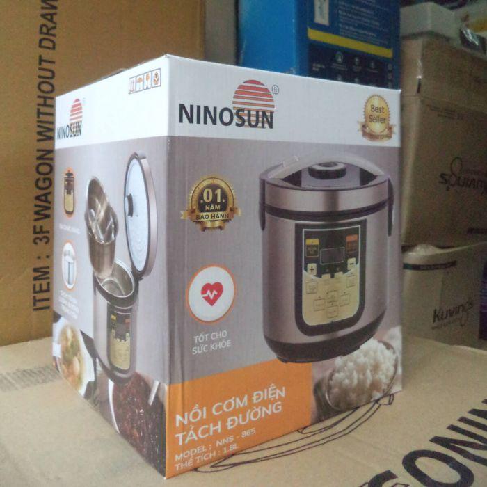 Nồi cơm tách đường Ninosun NNS-865 Việt nam sản xuất