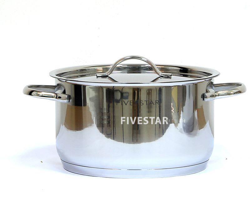 Bộ nồi Fivestar Kitchi 5 chiếc vung kính Inox 304 cao cấp